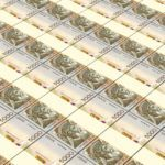 albanian currency lek bills cash stack money