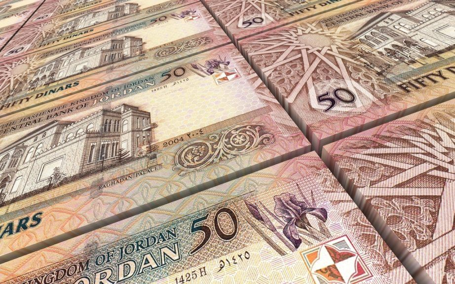 jordan currency jordanian dinar cash 50 money bills stack