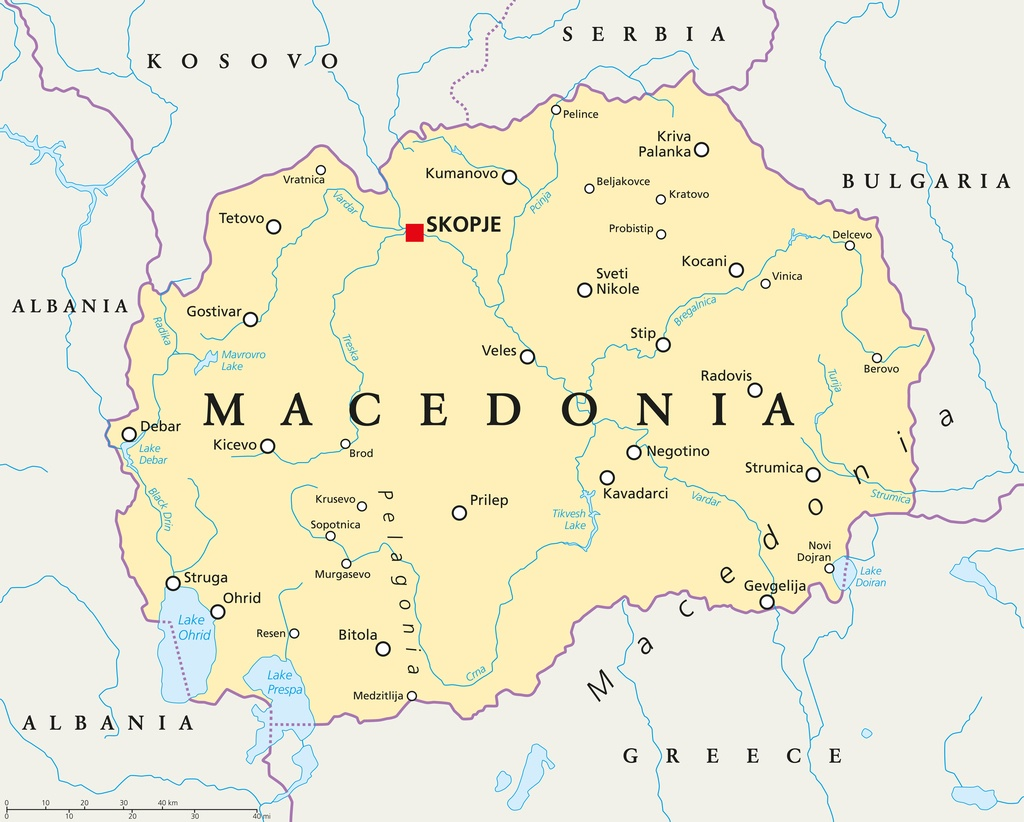 Macedonia travel destinations costs tips and more macedonia map skopje political balkans yugoslavia publicscrutiny