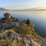 macedonia travel lake ohrid chuch water peaceful landscape