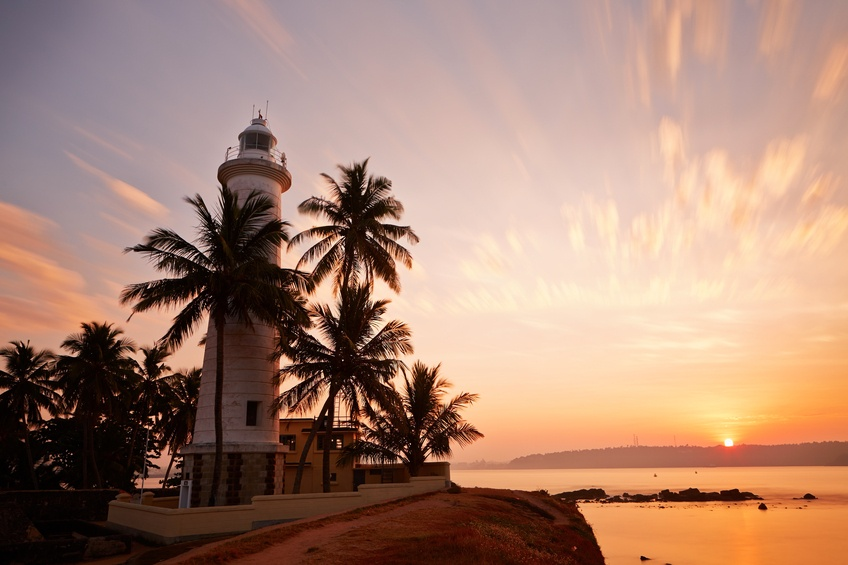 lighthouse galle sunset fort sri lanka