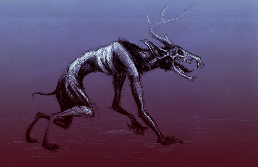 wendigo native american beast monster cannibal