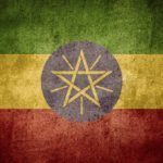 ethiopia flag red yellow green star sun rays