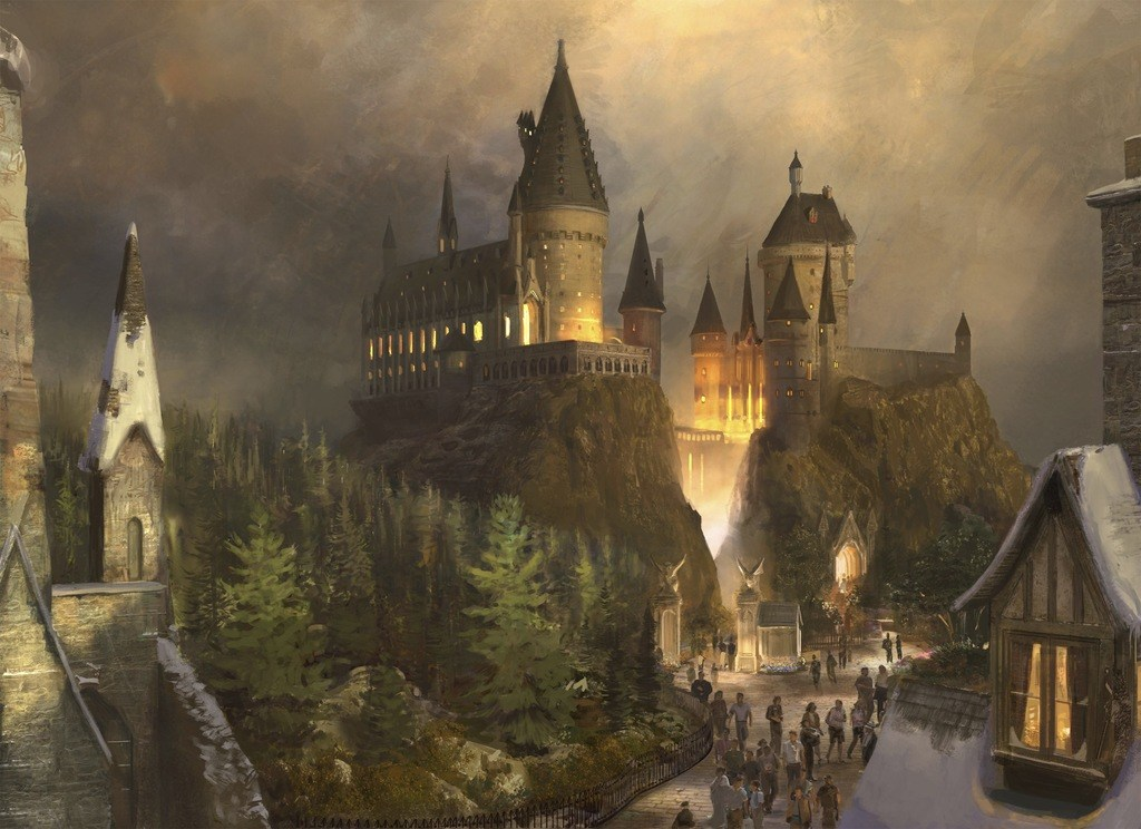 hogwarts castle harry potter magic school
