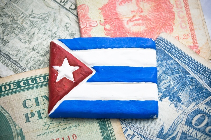 cuban peso convertible cuba money wallet flag