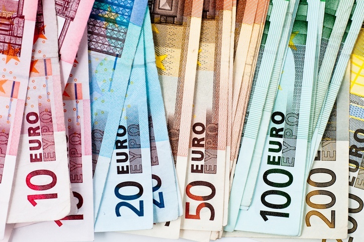 euro banknotes cash colors money