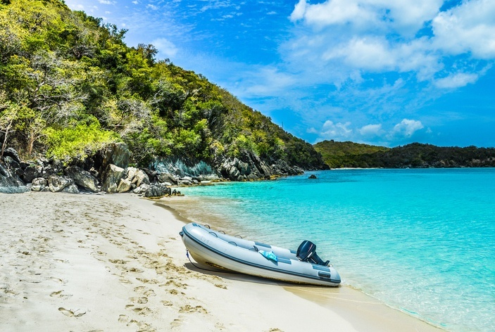 us virgin islands boat beach caribbean
