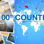 100th country of the week travel world map tourist