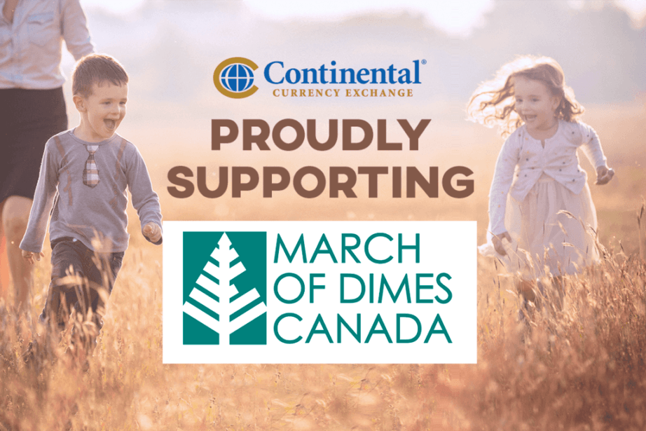 march of dimes canada continental family charity donations