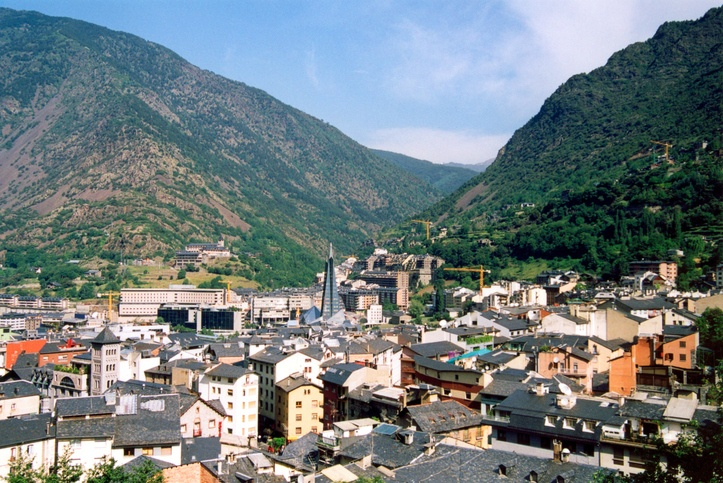 andorra la vella city capital mountains classical
