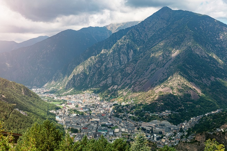 andorra mountains city town landscape