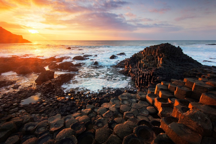 northern ireland county antrim coast giant's causeway