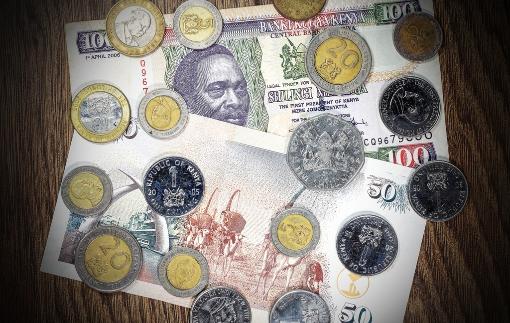 kenyan shilling money coins notes cash banknotes