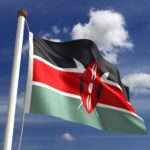 kenya flag red black green maasai shield