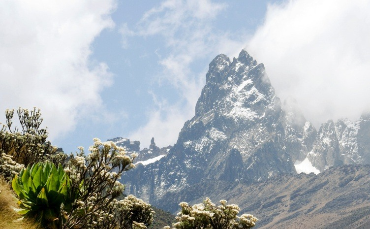 my kenya central highlands mountain snowy