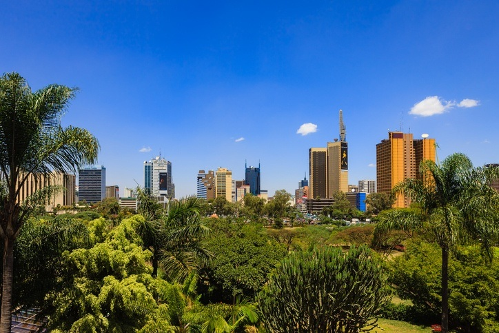 kenya nairobi city green skyscrapers