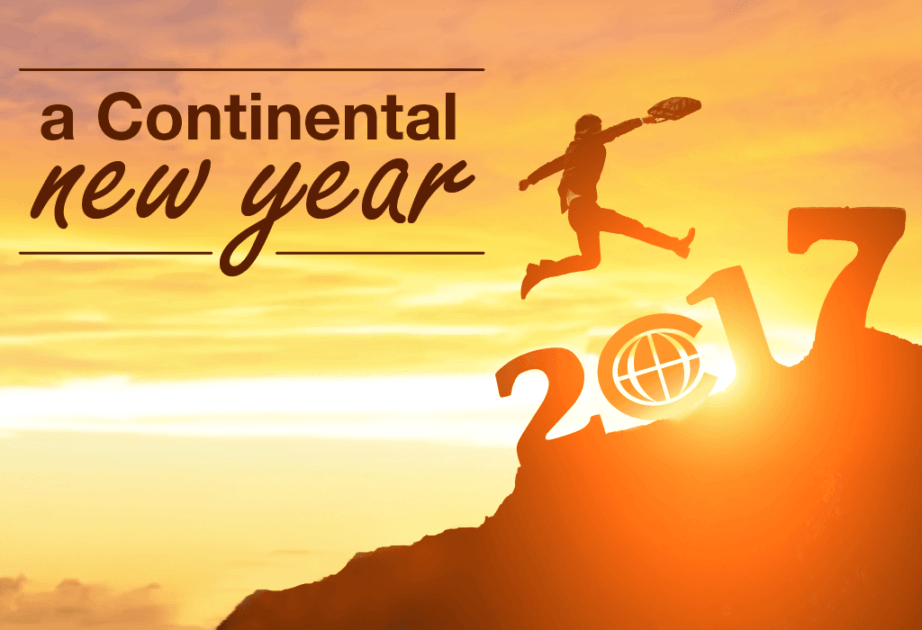 continental new year 2017 currency exchange jumping businessman