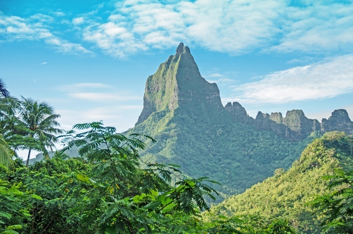 mo'orea mountain island french polynesia imposing jungle