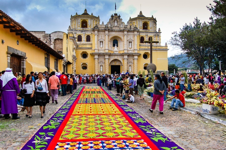 guatemala carpet square celebration holiday