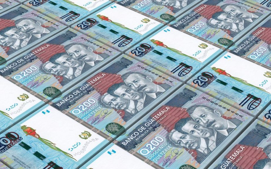 guatemala currency guatemalan quetzal bills cash stack