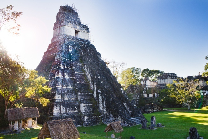 tikal maya temple pyramid sun ruin ancient archaeology