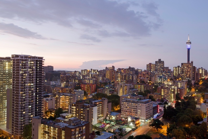 Johannesburg south africa city evening tower