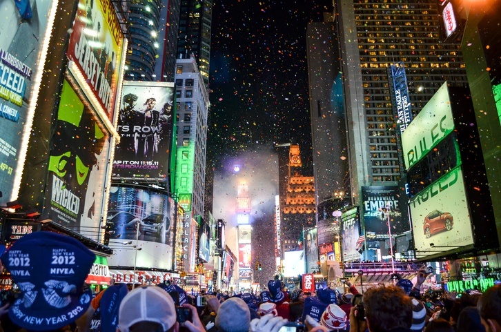 new york city times square ball drop new years