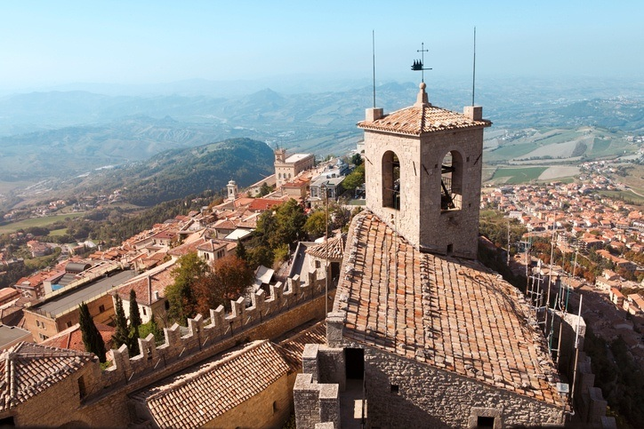 san marino roof buildings landscape