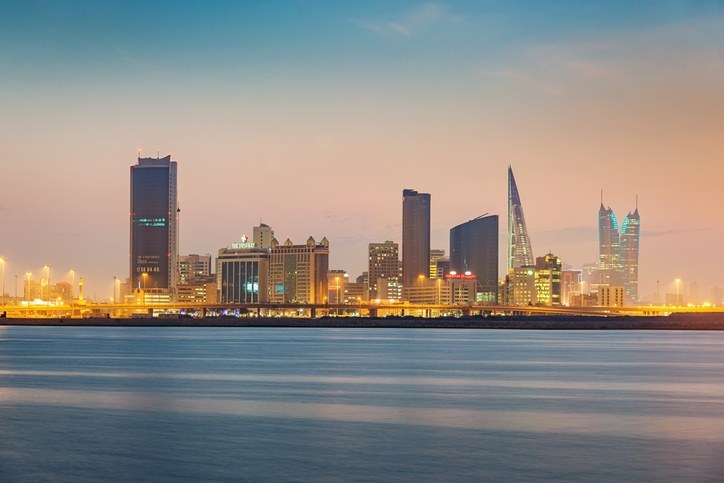 manama night cityscape skyline waterfront bahrain