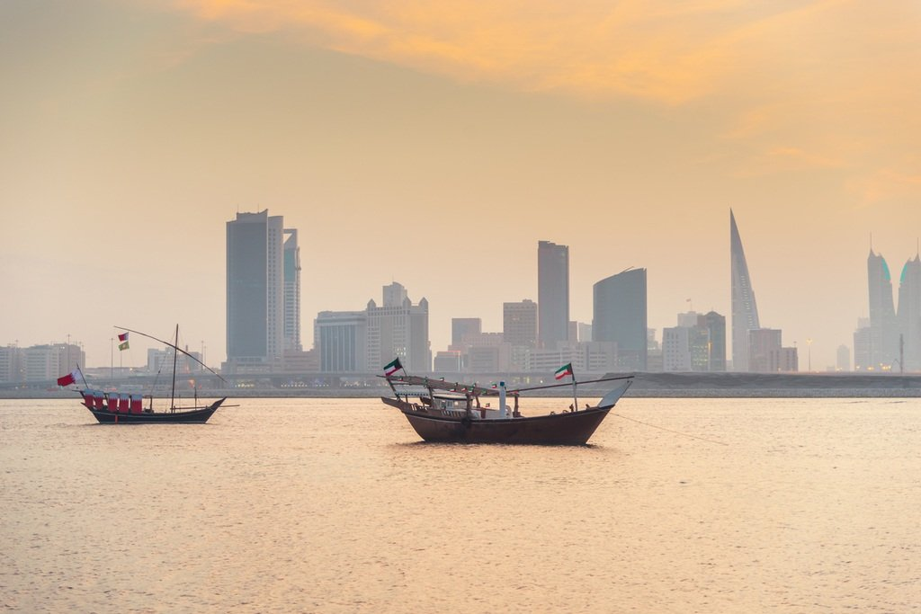 bahrain travel manama dhow boat water skyline