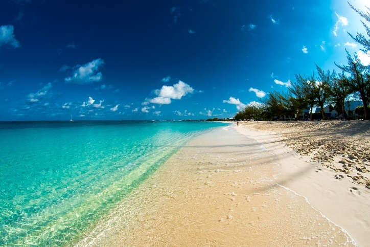 cayman islands beach long sand water ocean