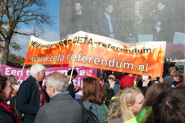 ceta protest trade anti netherlands