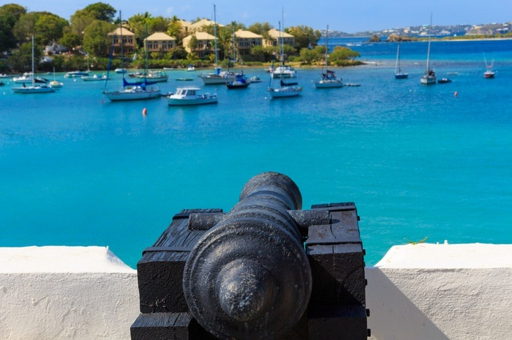 antigua cannon english fort colonial caribbean sea