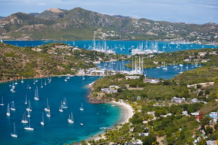 antigua english harbour yachts boats caribbean island sea