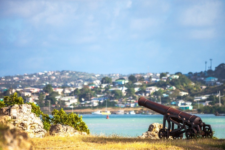 antigua barbuda st. john's for cannon coast colonial british