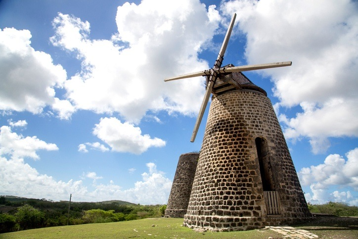 antigua barbuda windmill old colonial