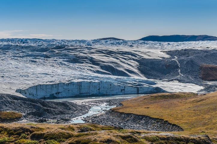 greenland ice sheet frozen land barren
