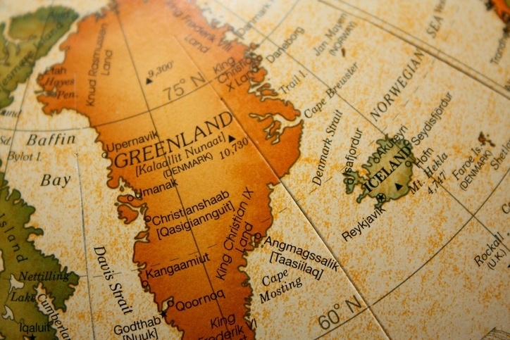 greenland map island north america europe iceland