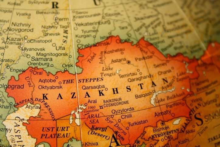 kazakhstan map central asia country cities