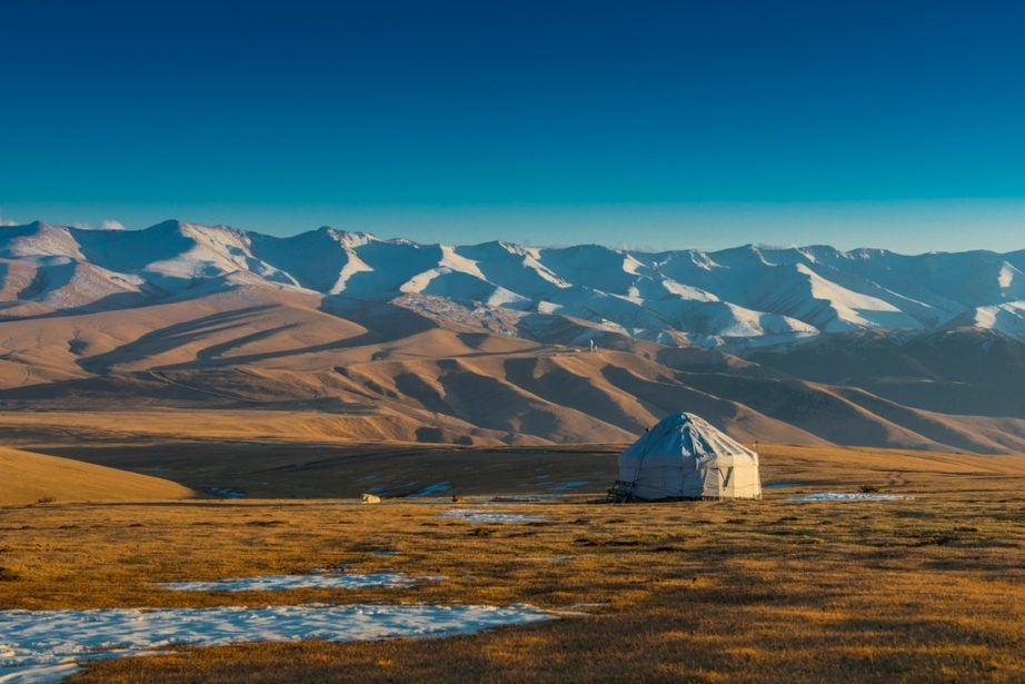 kazakhstan travel yurt tent plateau steppe mountains