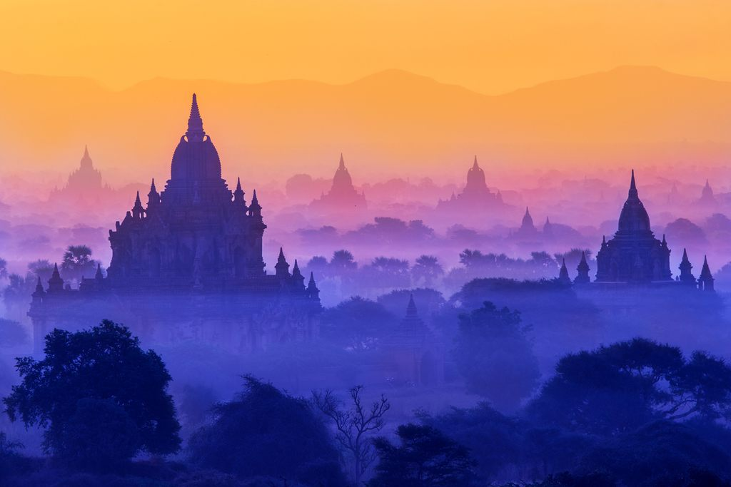 myanmar travel bagan sunset temples ancient pagan archaeology