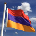 armenia flag red blue gold