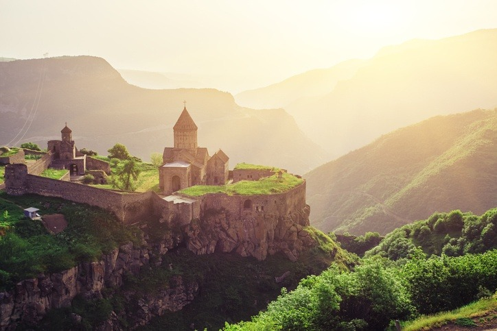 armenia monastery landscape church mountains