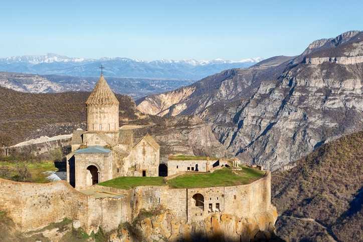 tatev monastery mountains armenia walls medieval