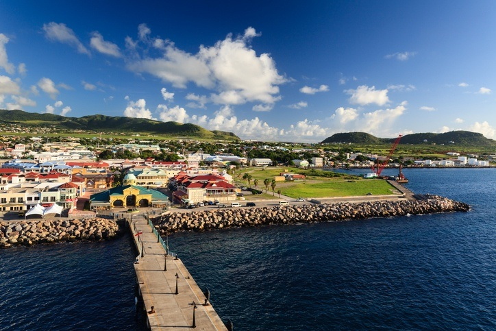basseterre coast dock port harbor saint kitts