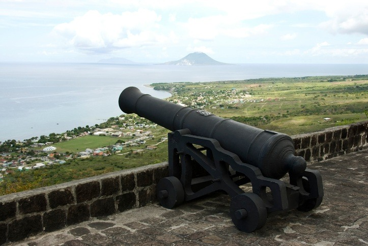 saint kitts fort cannon brimstone