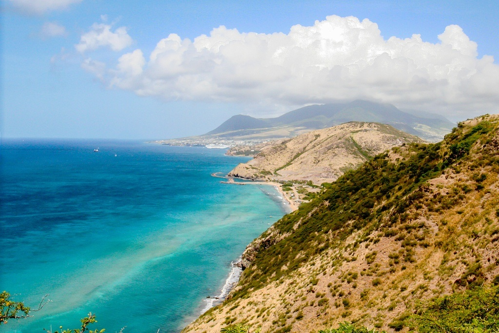 saint kitts and nevis travel coast sea mountains landscape