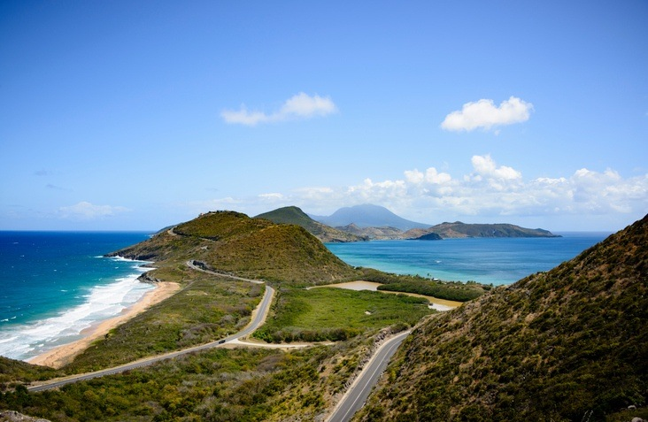 saint kitts road bay caribbean sea landscape