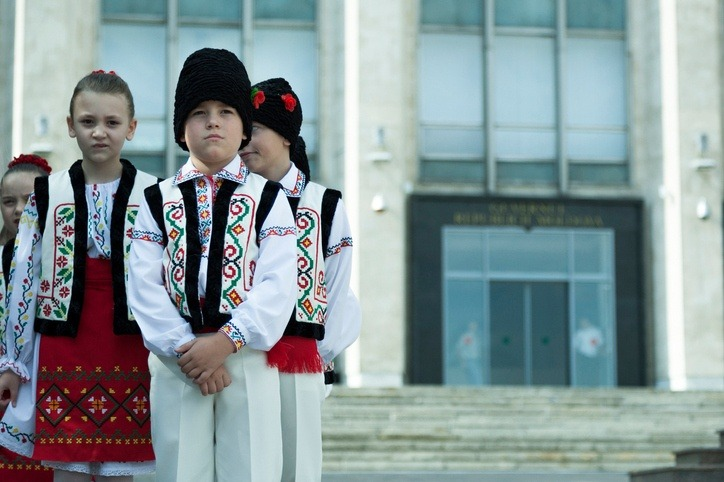moldova children traditional outfits holiday celebration culture
