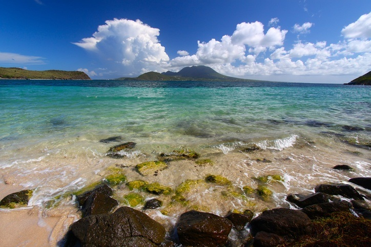 saint kitts beach caribbean sea sand water
